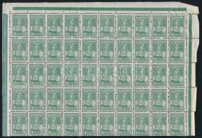 Szovjetunió 1929 20k forgalmi 50-es fél ív (Mi EUR min 500.-)