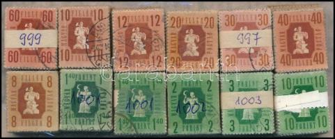 1946 Forint-fillér 12 klf érték 100-as bündlikben (28.000)