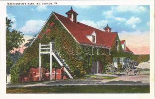 Mount Vernon (Virginia); Washingtons barn, horse-drawn carriage