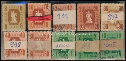1946 Forint-fillér 10 klf érték 100-as bündlikben (23.000)