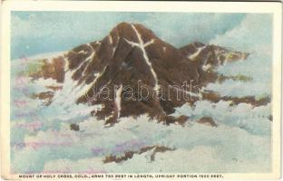 Mount of the Holy Cross (Colorado), arms 750 feet in length, upright portion 1500 feet (wet damage)