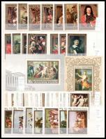 Festmények motívum 101 db bélyeg + 3 db blokk, 2 db berakólap minden oldalán (7.230)
