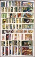 Festmény sorok + 6 db blokk közepes berakólapon (6.900)
