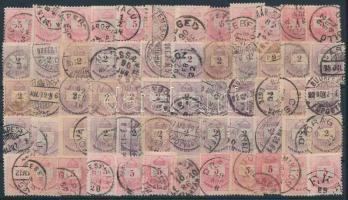 1881 60 db krajcáros bélyeg olvasható bélyegzésekkel