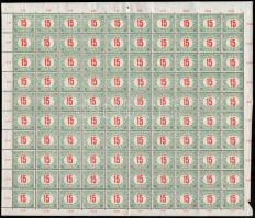 1915 Pirosszámú zöldportó 15f hajtott ív (20.000)