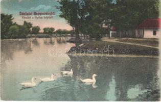 1915 Nagysurány, Surany; Nyitra folyó / Nitra river