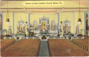 1944 Miami (Florida), interior of Gesu Catholic church