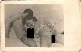 Vintage pornographic photo postcard (worn corners)