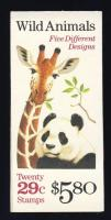Wild animals stamp booklet, Vadon élő állatok bélyegfüzet, Wildtiere Markenheftchen