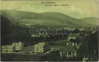 Trencsénteplic, Trencianske Teplice; Nyaralók völgye. Wertheim Zsigmond kiadása / Villental / villa valley (fl)