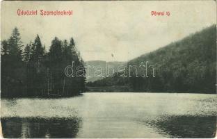 1911 Szomolnok, Schmölnitz, Smolník; Dénesi tó. W. L. Bp. 2677. / lake (EK)