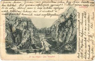 1905 Szulyó-völgy, Szulyó-hegység, Súlovské údolie, Súlovské vrchy (Vágvölgy, Povazie); A Vág völgye. Gansel Lipót 50. / Das Waagtal / Váh Valley (b)