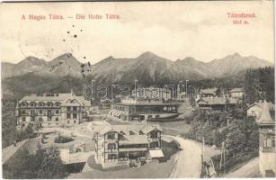 1910 Tátrafüred, Ótátrafüred, Altschmecks, Stary Smokovec (Magas Tátra, Vysoké Tatry); Kertész Tódor üzlete, kávéház