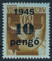 1945 Kisegítő IV. 10P/80f fordított felülnyomattal (20.000)