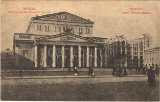Moscow, Moscou; Grand Theatre Imperial