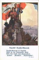 Republik Deutsch-Österreich / Republic of German-Austria propaganda s: E. Kutzer (EK)