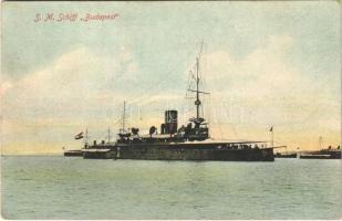 SMS Budapest osztrák-magyar Monarch-osztályú partvédő páncélosa / K.u.K. Kriegsmarine / Austro-Hungarian Navy SMS Budapest Monarch-class coastal defense ship. G. Costalunga Pola 1908.