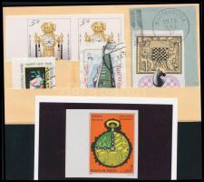 1979-1990 6 db vágott bélyeg és 1 levél