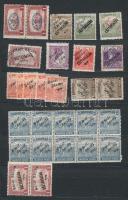 Vegyes megszállási kis gyűjtemény, benne kb 350 db bélyeg, közte Arad, Debrecen, Bánát Bácska Csehszlovák, Szeged, Fiume garancia nélkül, 6 lapos közepes berakóban