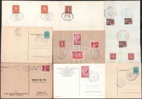 100 db magyar levelezőlap az 1930-1950 közötti időszakból klf alkalmi bélyegzésekkel
