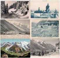 Chamonix - 10 pre-1945 postcards with winter sport motives
