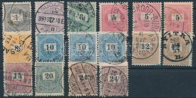 1898 16 db Krajcáros bélyeg (12.900)
