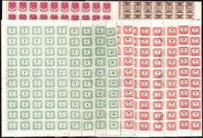43 db javarészt teljes portó ív az 1950-1990 közötti időszakból postamesteri hagyatékból, mind hajtott