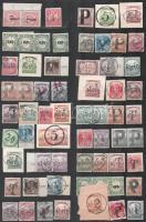68 db szükségportó bélyeg berakó lapon