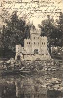 1920 Baden bei Wien, Bienenburg mit Seerosenteich am Kalvarienberg / castle, rose lake