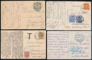 6 db 1945 előtti képeslap portóbélyeggel