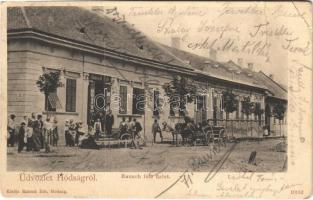 1905 Hódság, Odzaci; Rausch Ede üzlete és saját kiadása / shop of Rausch (EB)