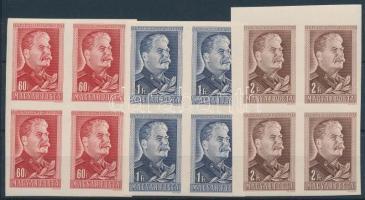 1949/1950 J. V. Sztálin vágott sor négyestömbökben (12.000)