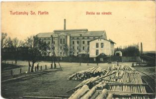 1917 Turócszentmárton, Turciansky Svaty Martin; Dielna na naradic / fabútorgyár / furniture factory, wood. W.L. Bp. 6040. G. (EK)