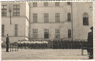 Beregszász, Beregovo, Berehove; iskolai ünnepség / school celebration. photo