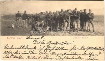 1900 Grus aus... Kurze Rast / Osztrák-magyar katonák rövid pihenője / K.u.K. military, soldiers resting (EK)