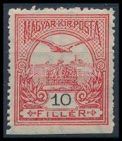 1913 Turul 10f alul fogazatlan bélyeg