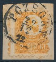 1871 Réznyomat 2kr képbe fogazott bélyeg POZSONY