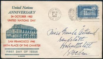 ENSZ-New York 1952