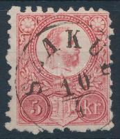 1871 Réznyomat 5kr SZAKUL (Gudlin 300 pont)
