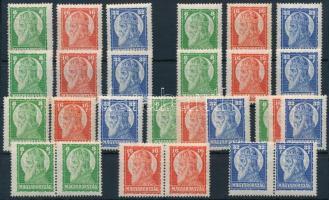 1928 Szent István I. 9 db sor, köztük párok is (16.200)