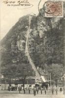 Bolzano, Bozen (Südtirol); Virglbahn / funicular, TCV card. Hátoldalon Eugen Dumtsa-nak (Dumtsa Jenő, Szentendre főbírája, majd első polgármestere) címezve
