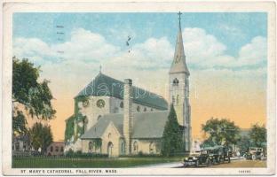 1926 Fall River (Mass.), St. Marys Cathedral, automobiles. Kallós Bertalannak államtitkárnak címzeve  (EK)