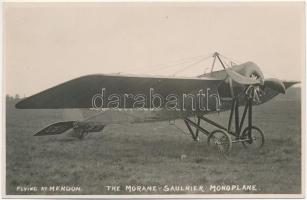 Flying at Hendon, The Morane-Saulnier Monoplane. photo