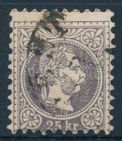 1867 25kr nagy vízjel darabbal (PE)ST