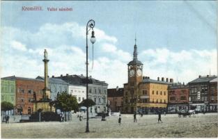 Kromeríz, Kremsier; Velké námestí / square, shops, Hotel Simon