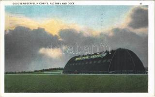 1933 Akron (Ohio), Goodyear Zeppelin Corps Factory and Dock, airship hangar / léghajó-hangár