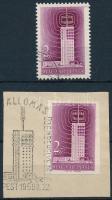 1958 Televízió vágott bélyeg + fogazott A típus (3.150)