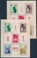 1949 VIT I.-Budapest 2 db blokk (14.000)