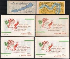1963 Újév I. 4 db bélyegfüzet 40f és 20f kiadásban + 1969 Dunakanyar bélyegfüzet+ 1969 Az 1968 Balaton II. kiegészítő értéke bélyegfüzet (16.000)