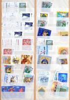 Több / sok példányos magyar rendező, benne az utóbbi 20-30 év bélyegei nagy mennyiségben, 12 lapos nagy berakóban